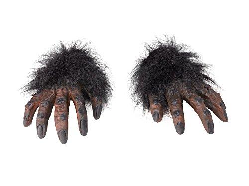 Rubie's md162 - guanti gorilla pelosi, taglia unica