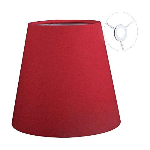 Eastlion 9 * 14 * 13cm Flachs Kerze Kronleuchter Lampenschirm Wand Lampe Pendelleuchte Schirm, rot mit Schraube E14