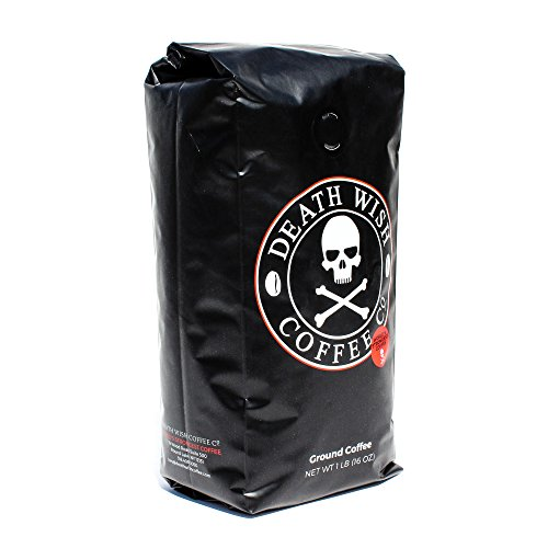 Death-Wish-Coffee-The-Worlds-Strongest-Ground-Coffee-Beans-Fair-Trade-and-Organic-16-Ounce-Bag