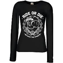 Maniche lunghe femminili T-shirt Ride or Die