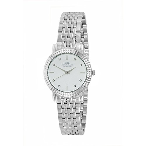 ADEE KAYE WOMEN'S 28MM STEEL BRACELET & CASE SWISS QUARTZ WATCH AK4801-LSV