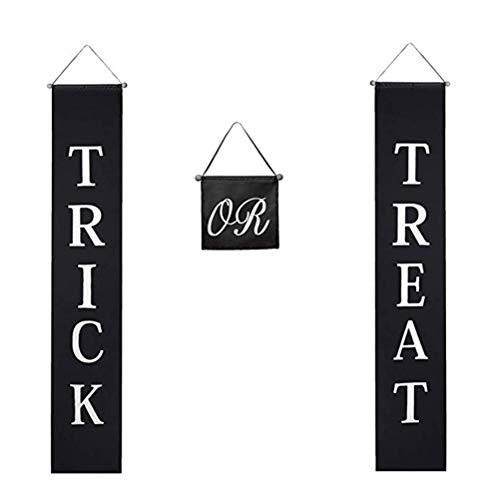 TOYANDONA Halloween Party Tür Blutige Tür Vorhang Süßes oder Saures Eingangstür Zeichen Halloween Party Dekoration Lieferungen (Schwarz) (Halloween-zeichen Hof Für)