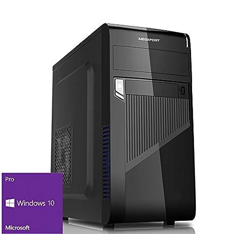 Megaport Multimedia PC Intel Core i7-7700 7. Generation (Quadcore) 4x 3,60GHz • 240 GB SSD + 1000GB Festplatte • 8 GB DDR4 2400 • Intel HD Graphics 630 4K• Windows 10 • USB3.0 • DVD Brenner office pc computer desktop pc home pc