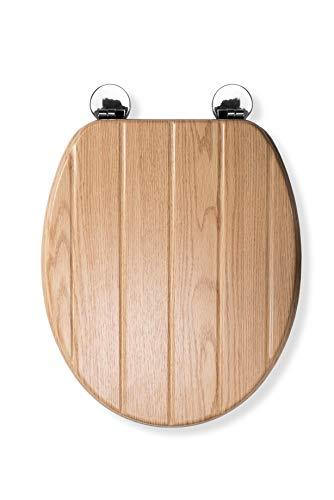 Croydex Flexi-Fix Geneva Immer passt nie gleitet WC-Sitz, Holz, Eiche Effekt, 45x 37,5x 6cm -