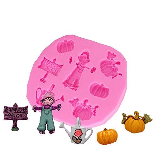 HBBQRS Fondant Kuchen dekorieren Tools für zu Hause backen DIY kürbis Junge silikonform Halloween Dekoration Formen zubehör kitche d1320 (Halloween-dekoration Diy Zu Hause)