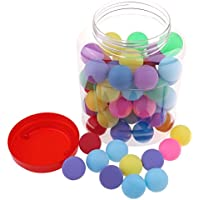 Osun 60 Pcs 40mm Ping-Pong Balls, Plastic Table Tennis Balls Multicolor Pong Game Balls(Not suitable for practice or tournament)