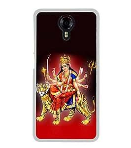 Fuson Designer Phone Back Case Cover Micromax Canvas Xpress 2 E313 ( Goddess Santhoshi Mata On Tiger )