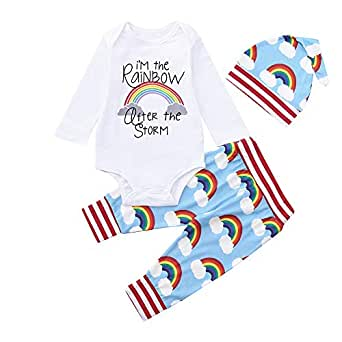 Vest+Pants Outfits Clothes Set Baby Products Hoodies & Tracksuits squarex 3Pcs Baby Boys Print Tops Romper