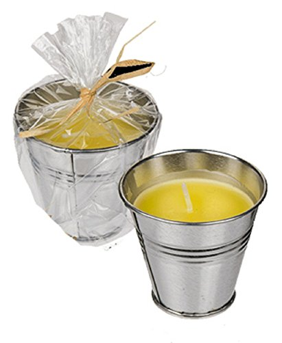 4x Citronella Kerze im Zink Topf 6x5,8cm