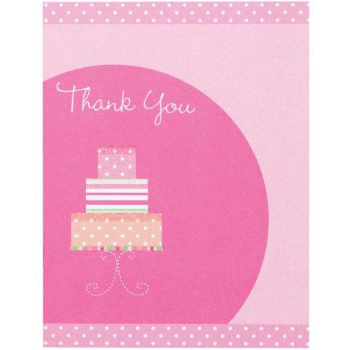 (Wilton Baumwollmusselin Bridal Dusche Kuchen Thank You Karte)