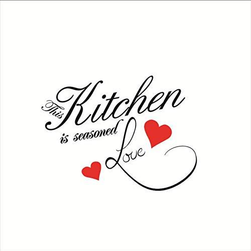 Diese Küche ist erfahrene Liebe warm Zitat Brief Wandaufkleber Küche Wandschrank Dekoration Vinyl Wand Kunst kreative Wohnkultur