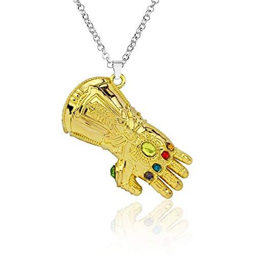 KOMO Schlüsselbund Handschuhmodell Palm Alloy Plating Keyring Key Chain, Gold