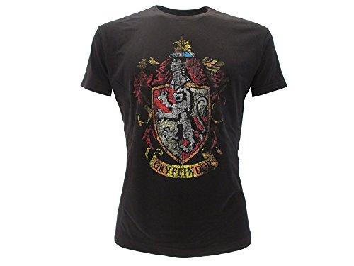 T-Shirt GRYFFINDOR Haus Symbol WAFFEN Harry Potter - 100% Offiziell WARNER BROS (M Medium)