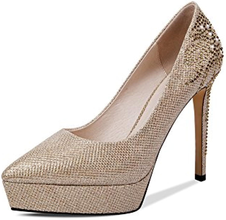 MUMA, Scarpe col tacco donna donna donna metallico Metallic EU39 UK6 CN39 | Caratteristiche Eccezionali  8ed067