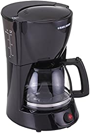 Black+Decker 800W 10 Cup Coffee Maker with 1.25L Glass Carafe and Keep Warm Feature for Drip Coffee and Espres