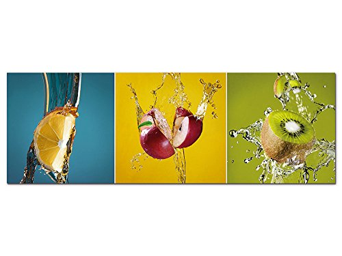 GRAZDesign Wandbild Küche türkis Petrol grün, Acrylglasbild, Bilder aus Acryl Glas XXL, Bar, freischwebende Optik Dekoration für Cocktail-bar / 150x50cm