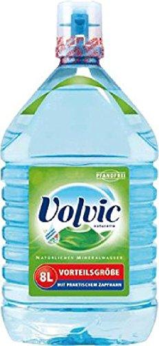 Volvic Mineralwasser Naturelle/380227, Inh. 8,0 l