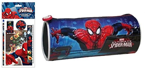 Marvel Spider Man tombolino astuccio con set cancelleria