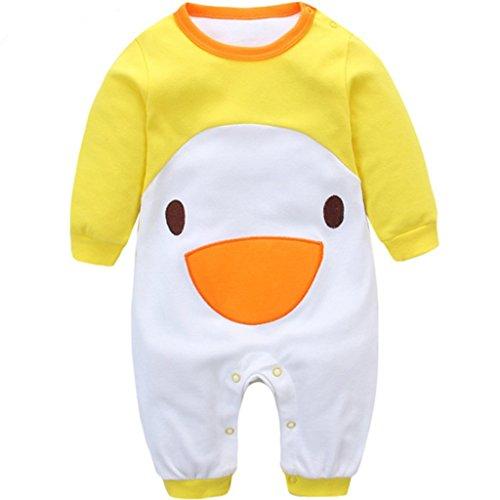 Yezelend Baby Strampler Jungen Mädchen Schlafanzug Baumwolle Overalls Säugling Spielanzug Baby-Nachtwäsche (Küken, 3-6 Monate)