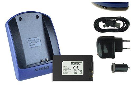 Batteria + caricabatteria (usb/auto/corrente) per samsung ia-bp80w per sc-d381 d382 d395... / vp-dx100, dx200... v. lista!