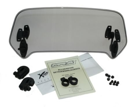X-Creen Touring- Aufsatz rauchgrau inkl. Klammern MRA für viele Motorradmodelle