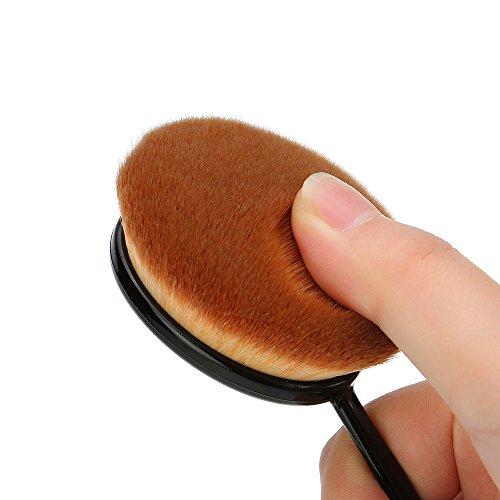 Abody 1St Foundation Brush Profi Kosmetik Pinsel Oval Gesichtspinsel Make Up Bürste (Klein, Mittler, Große) - 4