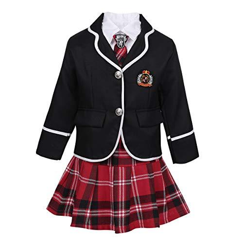 Britische Marine Kostüm - Freebily 4tlg. Kinder Mädchen Britischer Stil