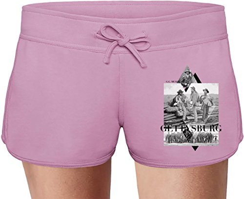 Gettysburg Summer Sweat Shorts For Women & Ladies | 80% Cotton-20%Polyester| DTG Printing| Unique & Custom Briefs, Bermudas, Underpants, Slacks & Sports Clothing By Wicked Wicked