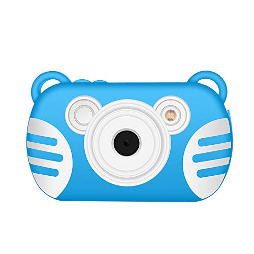 CamKing Kids Fotocamera Digitale,K6 2.7 Pollici Screen Cartoon Camera Digitale per Bambini (Blu)