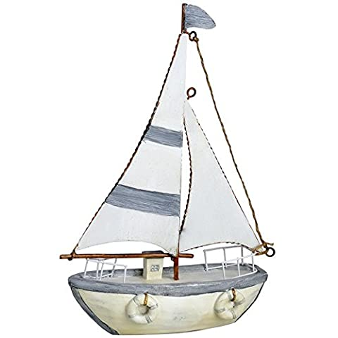 Hill Interiors 7-Inch Sailing Boat, Light Blue
