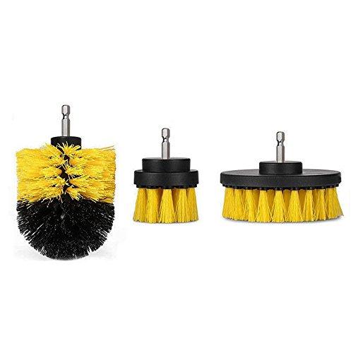 ChaRLes 3Pcs 2/3.5/4 Zoll Gelb/Weiß Power Scrub Drill Reinigungsbürste Für Bohrmaschine - Gelb