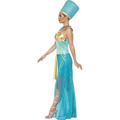 �m Antike Ägypterin Pharaokostüm L 44/46 Ägypten Königin Kleid Kopfschmuck Kette Ägyptische Göttin Kostüm Karneval Kostüme Damen Sexy Pharao Faschingskostüm Pharaonin Göttinkostüm (Ägyptischer Kopfschmuck Kostüm)
