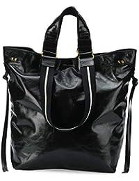 ISABEL MARANT Mujer SJ011518A001MBLACK Negro Cuero Bolso Tipo Shopper