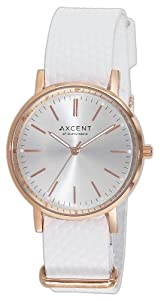 Reloj Axcent of Scandinavia Axcent of Scandinavia de cuarzo para mujer con correa de piel, color blanco de Axcent