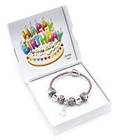 13th Birthday Pink Leather Charm Bracelet for Girls with Gift Box (19)
