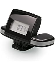 Restart Herzfrequenz Pulse Monitor Walking Maßnahmen Kalorien LCD Display 3D pedometer-black