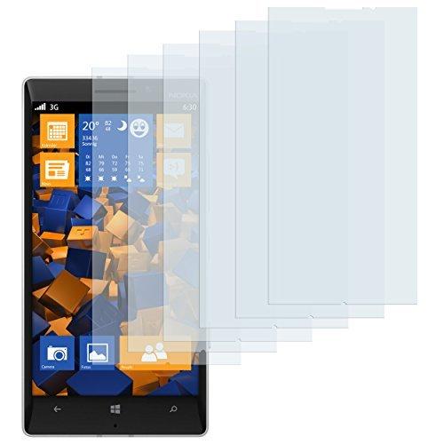 6 x mumbi Schutzfolie Nokia Lumia 930 Folie Bildschirmschutzfolie (bewusst kleiner als das Bildschirm, da dieses gewölbt ist)