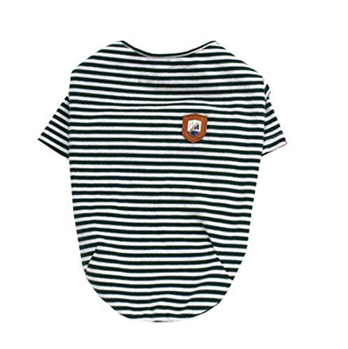 Pyjamas Gestreifte Kostüm - Wikibird Pet Bekleidung Warme SlimFit Haustier Kleidung Dünne Hunde Kleidung Bequemes T-Shirt Sweatshirts Gestreifte Puppy Kostüme Pyjamas