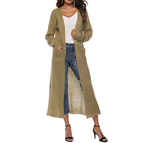 TianWlio Mäntel Frauen Weihnachten Damen Mantel Langarm Strickjacke Jacke Outwear Herbst Winter Lange Ärmel öffnen Kap Beiläufig Mantel Bluse Kimono Jacke Strickjacke