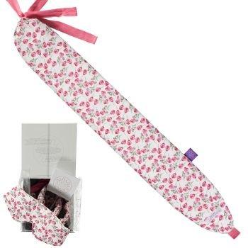 YUYU Bottle Liberty Fabrics stilvolle Wärmflasche zum Umbinden in versch. Farben Weiß Blumen