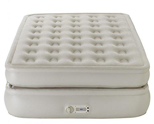 AeroBed Luxury Collection erhöhtes Luft-Bett | Bequemes Doppel-Bett für Gäste | Luft-Matratze mit eingebauter Luftpumpe | hochwertiges PVC | Belastbar über 200kg | 198 x 137 x 56 cm | inklusive Tasche - 2