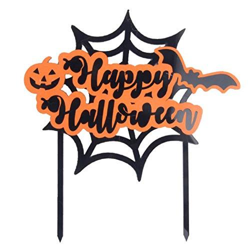 FunPa Cake Topper, Halloween Cake Topper Kreative Fledermaus Kürbis Cupcake Topper Kuchen Dekoration