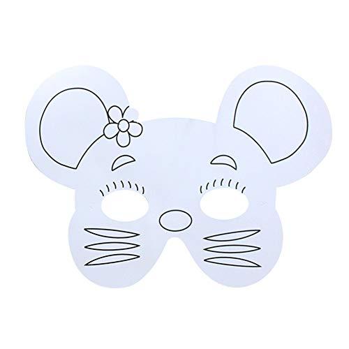SMARTRICH Maske für Kinder, Tier-Masken, Weiß, Maus, 27 * ()