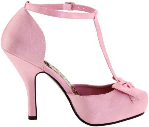 Pleaser Cutie12/Bpsa, T-Bar Pompes & Heels femme Rose (Baby Pink)