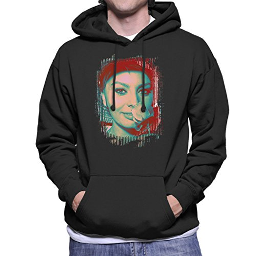 Sophia Loren Screen Siren Rose Effect Men's Hooded Sweatshirt