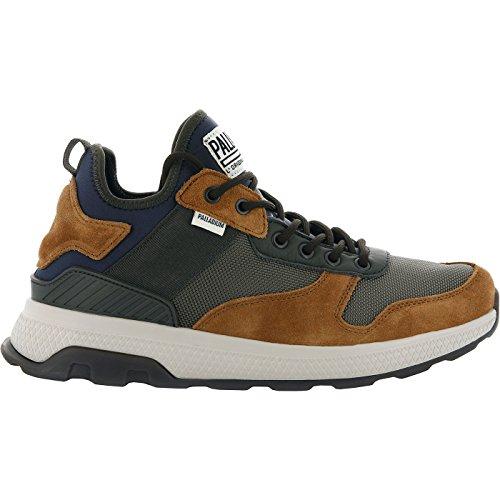 Palladium Herren Axeon Army Runner Sneaker Mood Indigo Dusty Olive Beluga