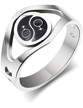 lekima Edelstahl Ring Yin Yang Siegelring weiblich Symbol Hohl Gay Lesbian LGBT Schwester Pride Band Retro Charm...