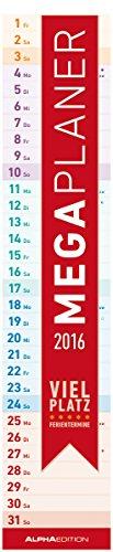 Megaplaner 2016 - Streifenkalender (14,5 x 70) - Streifenplaner 2016 hier kaufen