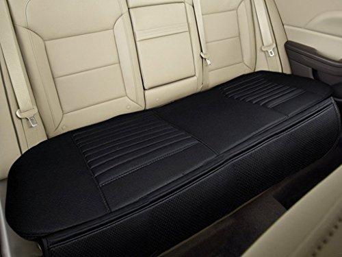 Rutschfeste hintere Auto-Sitzbezüge Breathable Kissen-Auflage-Matte für Fahrzeug-Versorgungsmaterialien mit PU-Leder-Bambusholzkohle (Schwarz-hintere Reihe, 54.3