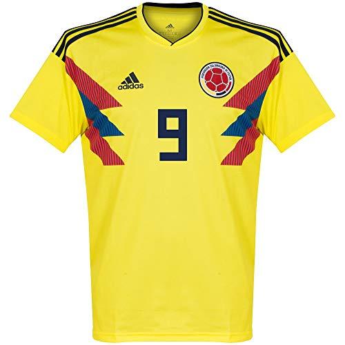 Player Print - adidas Performance Kolumbien Home Trikot 2018 2019 + Falcao 9 - L - Adidas Fußball Kolumbien